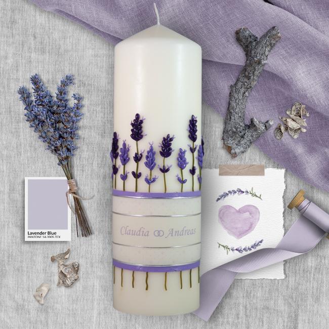 kerze-lavendel